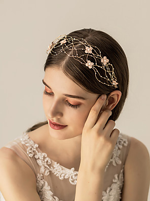 cheap Wedding Dresses-Alloy Headbands / Headdress / Hair Accessory with Floral 1 pc Wedding / Party / Evening Headpiece