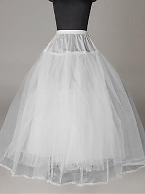 cheap Wedding Slips-Bride Classic Lolita 1950s Dress Petticoat Hoop Skirt Crinoline Women's Girls' Tulle Costume White Vintage Cosplay Wedding Party Princess