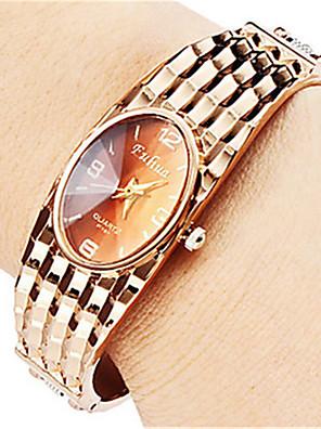 cheap Quartz Watches-Women's Bracelet Watch Casual Fashion Minimalist Rose Gold Alloy Chinese Quartz Rose Gold Casual Watch Analog / Stainless Steel