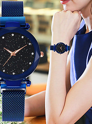 cheap Quartz Watches-Women's Quartz Watches Quartz Stylish Casual Casual Watch Black / Blue / Red Analog - Rose Gold Black Blue One Year Battery Life / SSUO 377