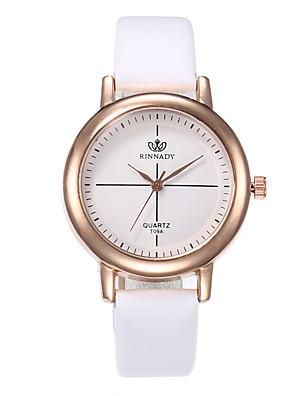 cheap Quartz Watches-Women's Quartz Watches Quartz Minimalist Casual Watch PU Leather Black / White / Red Analog - White Black Red One Year Battery Life / Jinli 377