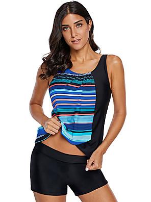 cheap Athletic Swimwear-Women's Tankini Swimwear UV Sun Protection Swimming Patchwork Summer