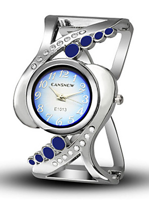cheap Quartz Watches-Women's Bracelet Watch Quartz Casual Creative Silver Analog - White Black Blue