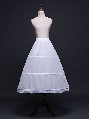 cheap Wedding Slips-Bride Classic Lolita 1950s Layered Dress Petticoat Hoop Skirt Crinoline Women's Girls' Costume White Vintage Cosplay Wedding Party Princess
