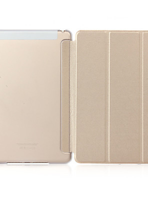 cheap iPad case-Case For Apple iPad Mini 3/2/1 with Stand / Translucent Full Body Cases Solid Colored Hard PU Leather / PC