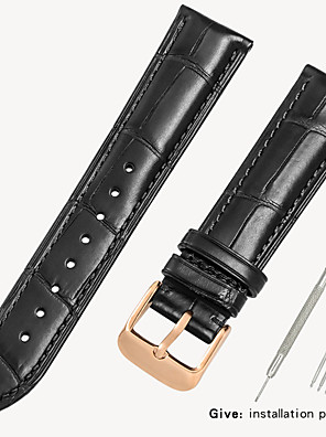 cheap Quartz Watches-Genuine Leather / Crocodile Watch Band Black / Brown 18cm / 7 Inches / 19cm / 7.48 Inches 1.6cm / 0.6 Inches / 1.8cm / 0.7 Inches / 1.9cm / 0.75 Inches