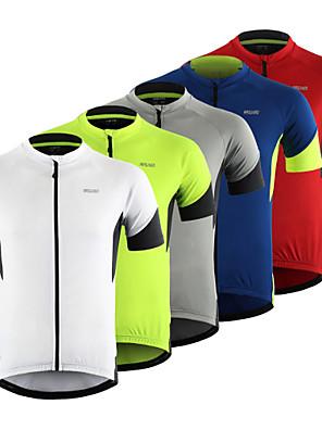 povoljno Biciklističke majice-Arsuxeo Muškarci Kratkih rukava Biciklistička majica Crvena Siva Zelen Kolaž Bicikl Majice Brdski biciklizam biciklom na cesti Prozračnost Ovlaživanje Reflektirajuće trake Sportski Odjeća