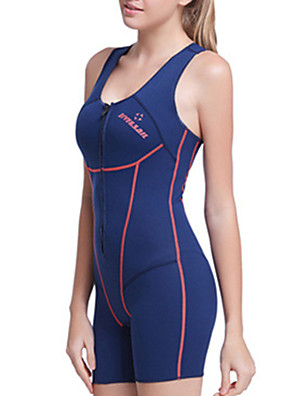 cheap Athletic Swimwear-Dive&Sail Women's Shorty Wetsuit 1.5mm Neoprene Diving Suit Thermal / Warm Waterproof UV Sun Protection Sleeveless Swimming Diving Surfing Spring Summer Fall / Breathable / Quick Dry / Winter