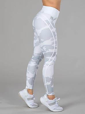 cheap Leggings-Women's High Waist Yoga Pants Leggings Butt Lift Moisture Wicking White Green Gym Workout Running Fitness Sports Activewear High Elasticity Skinny