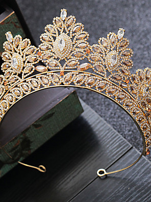 cheap Girls' Dresses-Alloy Tiaras with Crystal 1 Piece Wedding / Party / Evening Headpiece
