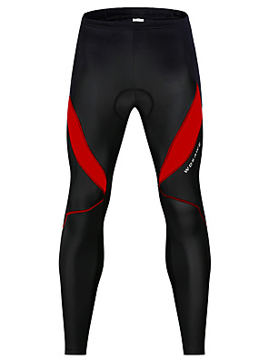 cheap Hiking Trousers & Shorts-WOSAWE Men's Women's Cycling Pants Winter Spandex Bike Pants / Trousers Leg Warmers / Knee Warmers Pants 3D Pad Reflective Strips Sports Patchwork Black / Red / Black / White Mountain Bike MTB Road