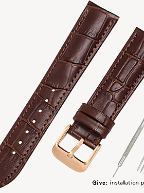 cheap Leather Watch Bands-Leather strap men's leather watch with bracelet accessories ladies substitute dw Tissang Longines Cassi Europe and the United States King 14/16/18/19/20mm