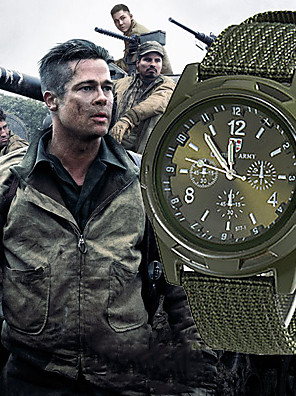 cheap Quartz Watches-Men's Military Watch Hunting Watch Quartz Nylon Black / Blue / Green 30 m New Design Casual Watch Analog Casual Fashion - Black Green Blue One Year Battery Life / SSUO 377