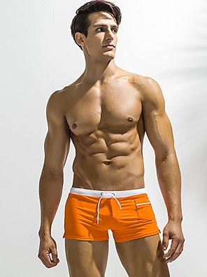 cheap Men's Exotic Underwear-Men's Bottoms Swimsuit Solid Colored Swimwear Bathing Suits Light Blue Black Blue Red