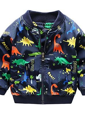 cheap Boys' Tops-Kids Boys' Active Dinosaur Print Jacket & Coat White