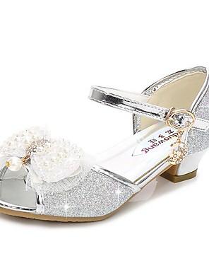cheap Girls' Dresses-Girls' Flower Girl Shoes Synthetics Sandals Toddler(9m-4ys) / Little Kids(4-7ys) / Big Kids(7years +) Silver / Blue / Pink Summer