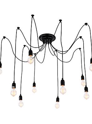 cheap Evening Dresses-QINGMING® 10-Light 120 cm LED Chandelier Metal Cluster Painted Finishes Vintage 110-120V / 220-240V