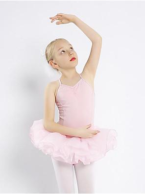 cheap Wedding Wraps-Kids' Dancewear Ballet Dress Ruffles Girls' Training Performance Cotton
