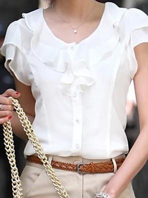 povoljno Majica-Žene Veći konfekcijski brojevi Jednobojni Bluza Obala / Crn