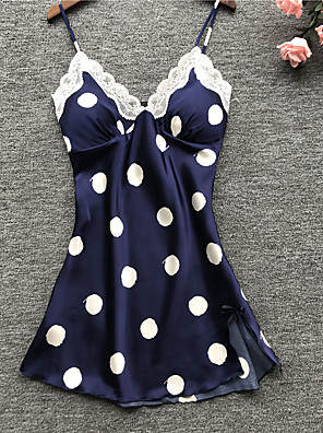 cheap Evening Dresses-Normal Polyester Robes Touch of Sensation Polka Dot Wedding Draping Robes
