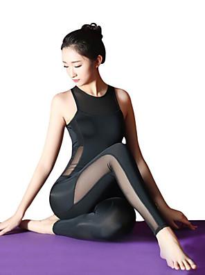 cheap Cocktail Dresses-Ballet Leotard / Onesie Split Joint Women's Training Performance Sleeveless High Elastic Elastane
