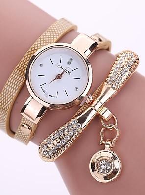 cheap Quartz Watches-Women's Quartz Watches Quartz Fashion Casual Watch PU Leather Black / White / Blue Analog - White Black Blue One Year Battery Life / Stainless Steel