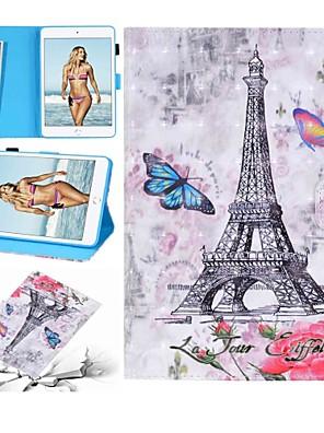 cheap iPad case-Case For Apple iPad Air / iPad 4/3/2 / iPad (2018) Wallet / Card Holder / Shockproof Full Body Cases Butterfly / Cartoon Hard PU Leather / iPad (2017)