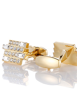 cheap Men's Accessories-Cufflinks Fashion Brooch Jewelry Golden For Gift Daily