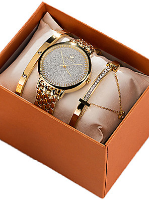 cheap Quartz Watches-Women's Quartz Watches New Arrival Fashion Gold Rose Gold Stainless Steel Japanese Quartz Rose Gold Gold Chronograph Cute New Design 30 m 1 set Analog Two Years Battery Life