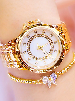 cheap Quartz Watches-Women's Quartz Watches Classic Fashion Silver Gold Rose Gold Stainless Steel Chinese Quartz Gold Silver Rose Gold Water Resistant / Waterproof Casual Watch Cool 30 m 1 pc Analog One Year Battery Life