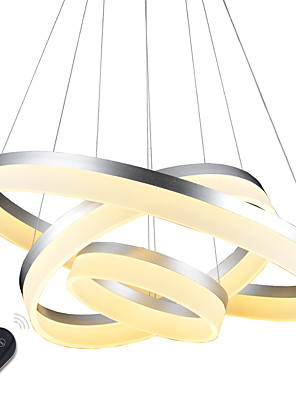 cheap Prom Dresses-80 cm Dimmable / LED / Dimmable With Remote Control Pendant Light Metal Acrylic Painted Finishes Modern Contemporary / Traditional / Classic / Country 110-120V / 220-240V