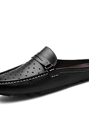 cheap Evening Dresses-Men's Comfort Shoes Rubber Summer / Spring & Summer Casual Loafers & Slip-Ons Walking Shoes Breathable Black / Brown / Blue