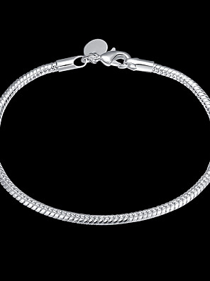 cheap Quartz Watches-Women's Chain Bracelet Classic Precious Stylish Basic Copper Bracelet Jewelry Silver For Daily Work / Silver Plated