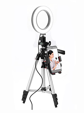 cheap Phone Mounts & Holders-Cell Phone Beauty Lamp Makeup Mirror LED Photography Light Beauty Tools