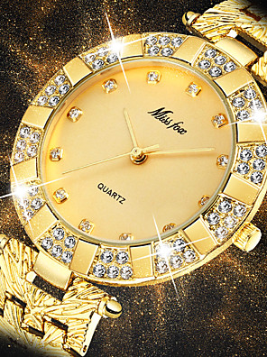 cheap Quartz Watches-Women's Quartz Watches Casual Fashion Silver Gold Stainless Steel Chinese Quartz White Silver Light Gold New Design Casual Watch 1 pc Analog One Year Battery Life