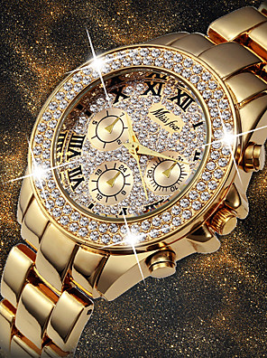 cheap Quartz Watches-Women's Quartz Watches Quartz Stylish Fashion Adorable Silver Analog - White+Golden Gold Silver One Year Battery Life