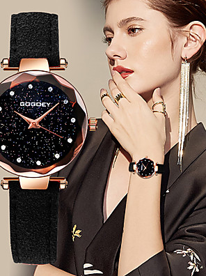 cheap Quartz Watches-Women's Quartz Watches Quartz Casual Chronograph PU Leather Black / Red / Brown Analog - Black Red Blushing Pink