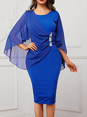 cheap Print Dresses-2019 New Arrival Dresses Women's Slim Sheath Dress Elbise Vestidos Robe Femme - Solid Colored Summer Purple Wine Royal Blue XL XXL XXXL