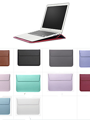 """cheap Mac Accessories-Sleeves Solid Colored PU Leather for MacBook 12'' / New MacBook Pro 15-inch / New MacBook Air 13"""" 2018"""