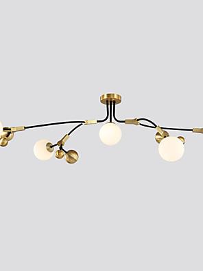 cheap Summer Dresses-ZHISHU 5-Light 58 cm New Design / WIFI Control / Tri-color Chandelier Metal Glass Sputnik / Globe Electroplated / Painted Finishes Artistic / Chic & Modern 110-120V / 220-240V / G9
