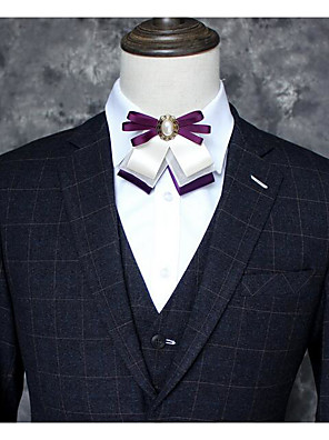 cheap Men's Accessories-Men's / Unisex Party / Active Bow Tie - Color Block / Solid Colored / Alloy