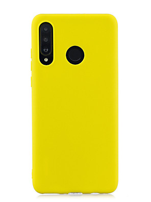 cheap Huawei Case-Case For Huawei P30 Pro Huawei P30 Lite Phone Case TPU Material Candy Series Solid Color Phone Case