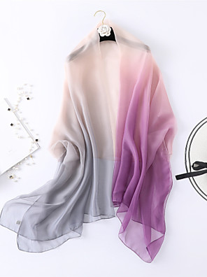 cheap Wedding Wraps-Sleeveless Shawls / Scarves Chiffon / Tulle Wedding / Party / Evening Women's Wrap / Women's Scarves With Color Block