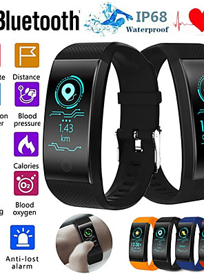 cheap Smart Watches-QW18 Smart Bracelet Heart Rate Monitor IP68 Waterproof Color Screen Fitness Tracker Band Watch Outdoor Sports Wristband