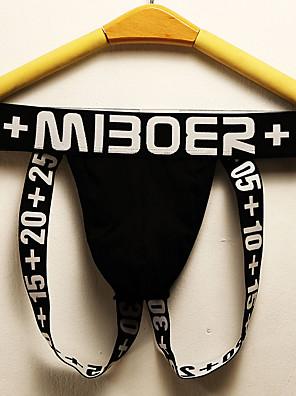 cheap Men's Exotic Underwear-Men's Basic G-string Underwear - Normal Low Waist Black White Blue M L XL