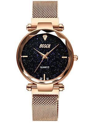 cheap Watches-Women's Mechanical Watch Quartz Water Resistant / Waterproof Analog Fashion - Black Rose Gold Purple