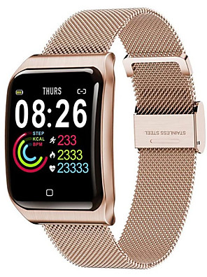 cheap Smart Watches-F9 Smartwatch Stainless Steel BT Fitness Tracker Support Notify & Heart Rate Monitor Compatible Apple/Samsung/Android Phones