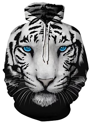billiga Huvtröjor och sweatshirts till herrar-Herr Plusstorlekar Huvtröja Geometrisk Färgblock 3D Huva Ledigt Grundläggande Pull Tröjor Svart