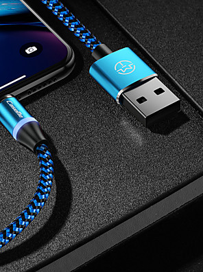 cheap Cell Phone Cables-CaseMe Type-C Cable Magnetic Charger Cable Phone Fast Charging LED 1.0m(3Ft) Nylon Braided for Samsung / Huawei / Sony / Xiaomi / OPPO / Vivo