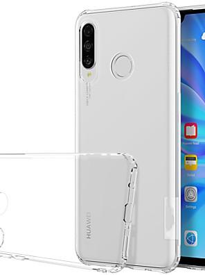 billige Etuier/deksler til Huawei-Etui Til Huawei Huawei P30 Lite Støtsikker / Gjennomsiktig Bakdeksel Gjennomsiktig Myk TPU